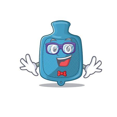 cartoon character of Geek hot water bag design. Vector illustration Çizim
