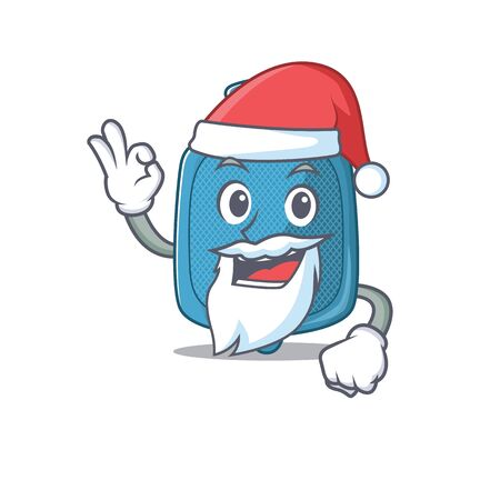 A picture of Santa hot water bag mascot picture style with ok finger. Vector illustration