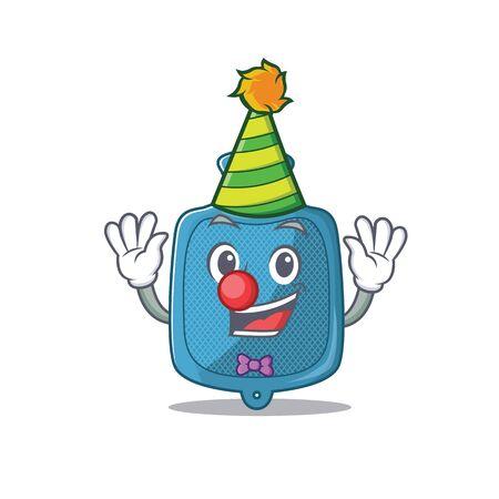 Funny Clown hot water bag cartoon character mascot design. Vector illustration Ilustração