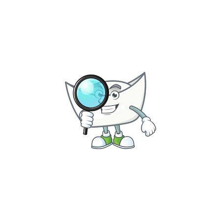 A famous of one eye chinese white ingot Detective cartoon character design . Vector illustration