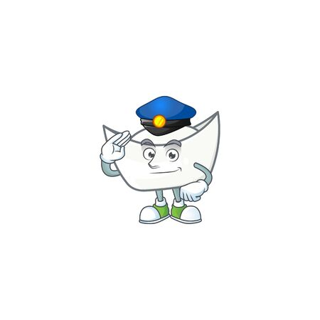 A character design of chinese white ingot working as a Police officer. Vector illustration