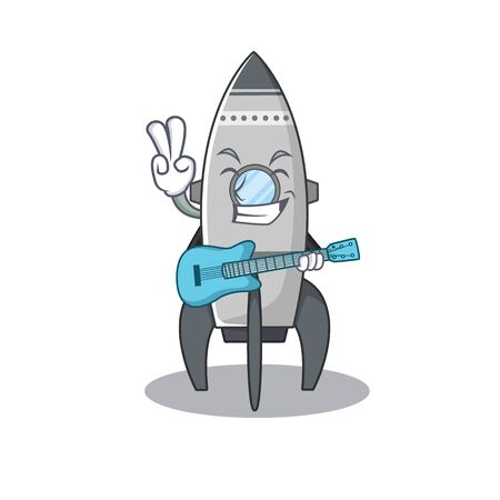 A picture of rocket playing a guitar Standard-Bild - 139494102