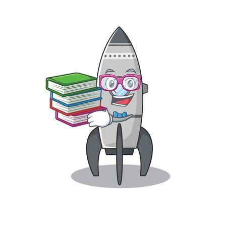 mascot cartoon of rocket studying with book Standard-Bild - 139467886