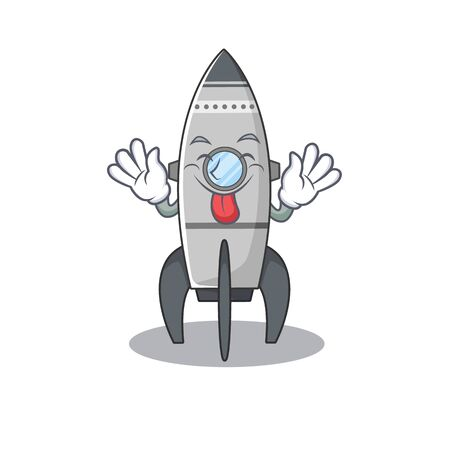 Funny rocket mascot design with Tongue out Standard-Bild - 139494113