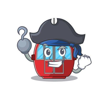 Cute ropeway mascot design with a hat. Vector illustration Standard-Bild - 139474768