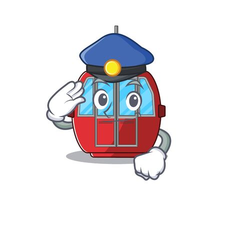 A manly ropeway Cartoon concept working as a Police officer. Vector illustration 일러스트