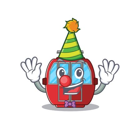 Funny Clown ropeway cartoon character mascot design