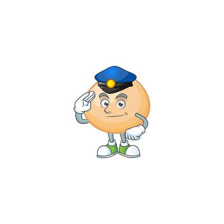 A character design of brown hoppang in a Police officer costume 일러스트