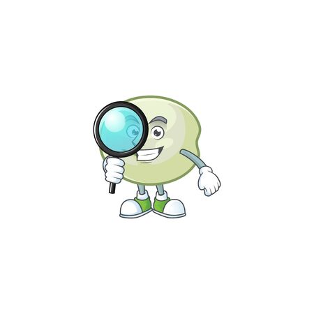 Smart One eye green hoppang Detective character style