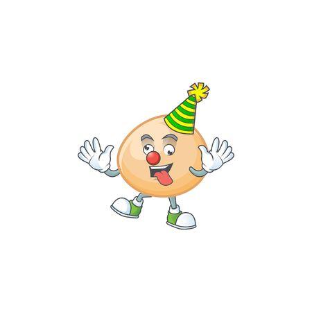 Funny Clown brown hoppang cartoon character mascot design