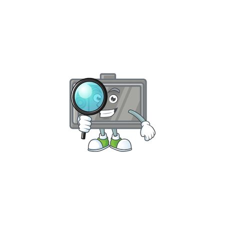 A famous of one eye tablet Detective cartoon character design Stock fotó - 140205856