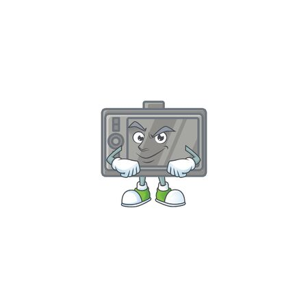 tablet mascot icon design style with Smirking face  イラスト・ベクター素材