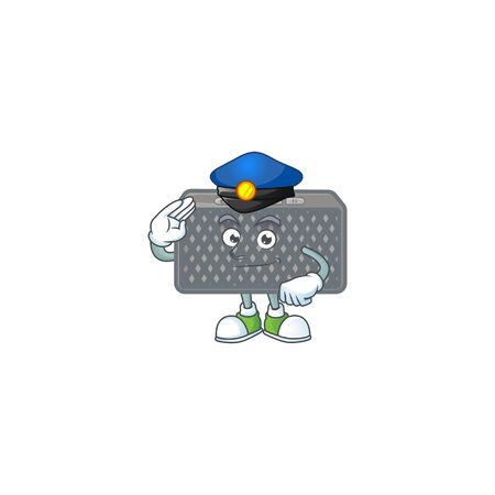 A character design of wireless speaker working as a Police officer