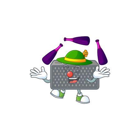 Smart wireless speaker cartoon character style playing Juggling Ilustração