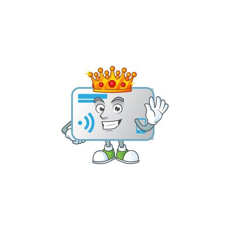 A dazzling of NFC card stylized of King on cartoon mascot design