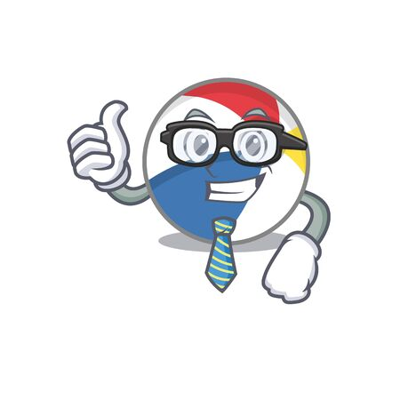 cool and smart Businessman beach ball wearing glasses Vectores