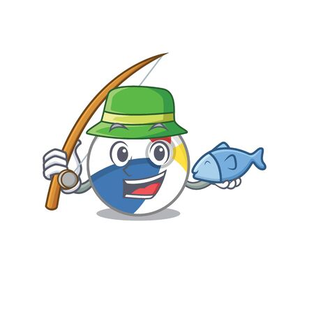 A Picture of happy Fishing beach ball design