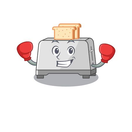 mascot character style of Sporty Boxing bread toaster