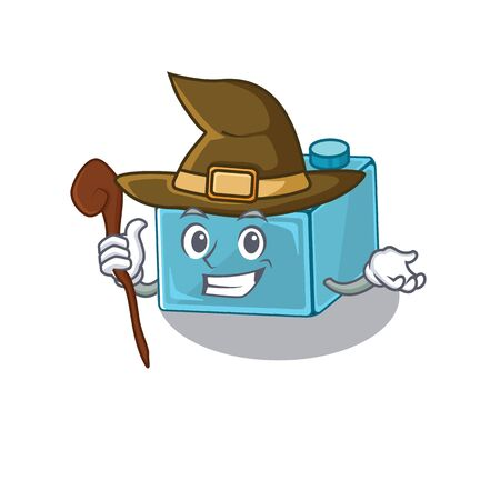 a mascot concept of brick toys performed as a witch