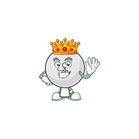 A dazzling of satellite dish stylized of King on cartoon mascot design. Vector illustration