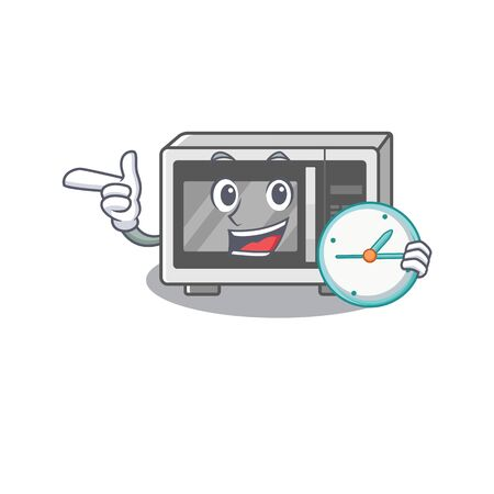 cartoon character the concept microwave having clock