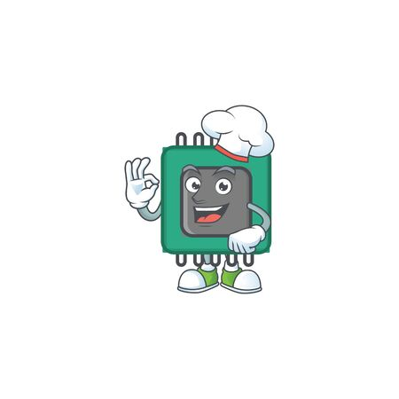 RAM cartoon character in a chef dress and white hat. Vector illustration Foto de archivo - 140100250