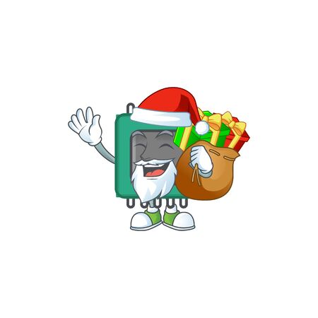Santa RAM Cartoon design having a sack of gifts. Vector illustration  イラスト・ベクター素材