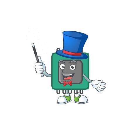 A character of RAM performance as a Magician. Vector illustration Illusztráció