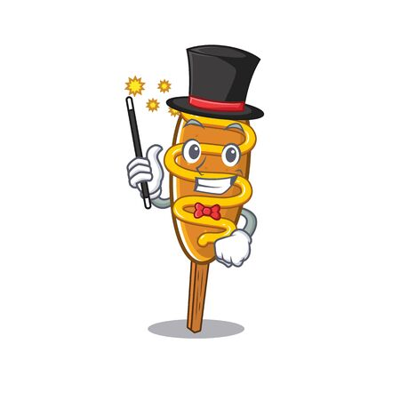 A picture of corn dog performance as a Magician