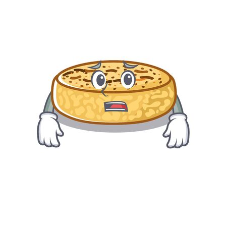 A picture of crumpets the having an afraid face Vectores