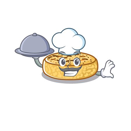 A picture of crumpets as a Chef serving food on tray