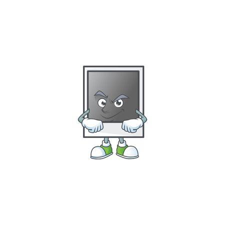Empty photo frame mascot icon design style with Smirking face