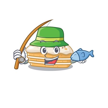 A Picture of happy Fishing carrot cake design