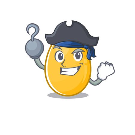Cute golden egg mascot design with a hat. Vector illustration