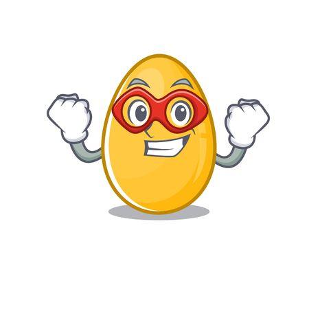 A cartoon concept of golden egg performed as a Super hero. Vector illustration