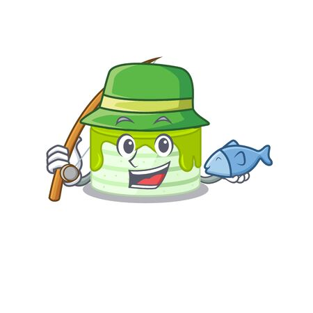 A Picture of happy Fishing kiwi cake design