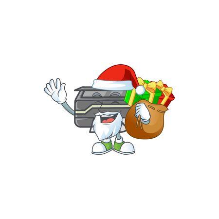 Santa printer Cartoon design having a sack of gifts