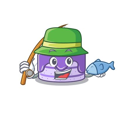 A Picture of happy Fishing blueberry cake design Иллюстрация
