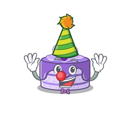 Funny Clown blueberry cake cartoon character mascot design