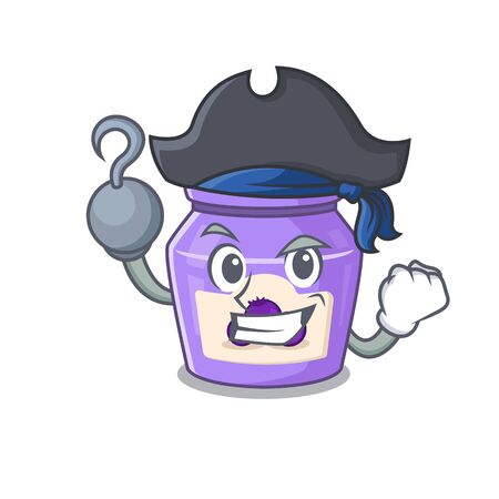 Cute blueberry jam mascot design with a hat 일러스트