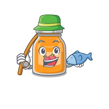 A Picture of happy Fishing apple jam design
