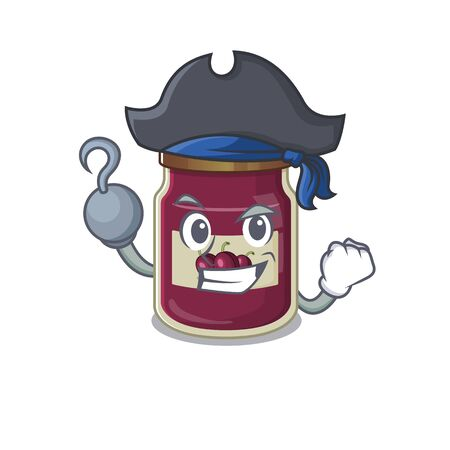 Cute plum jam mascot design with a hat