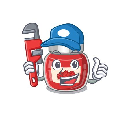 A cute picture of raspberry jam working as a Plumber