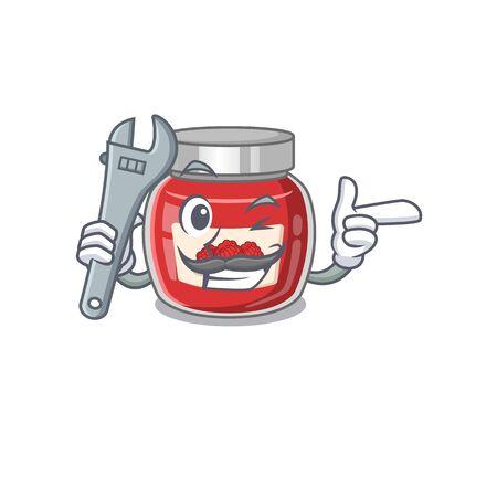 Smart Mechanic raspberry jam cartoon character design