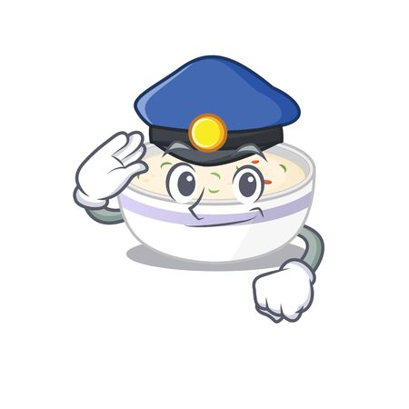A manly steamed egg Cartoon concept working as a Police officer. Vector illustration
