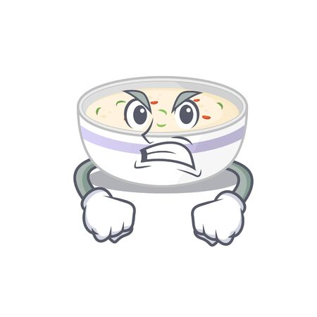 Steamed egg cartoon character style having angry face