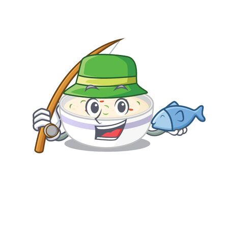 A Picture of happy Fishing steamed egg design