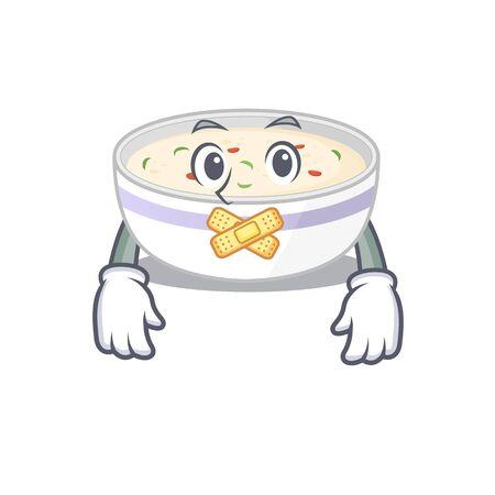 cartoon character design steamed egg making a silent gesture