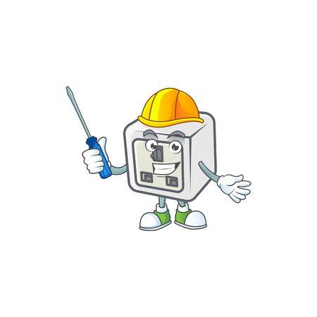 Smart automotive USB power socket in cartoon character style
