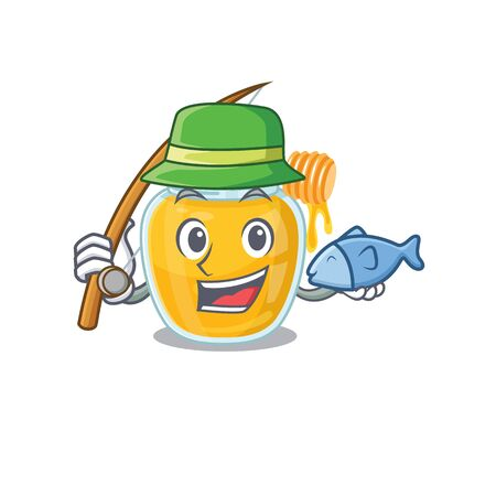 A Picture of happy Fishing honey design. Vector illustration